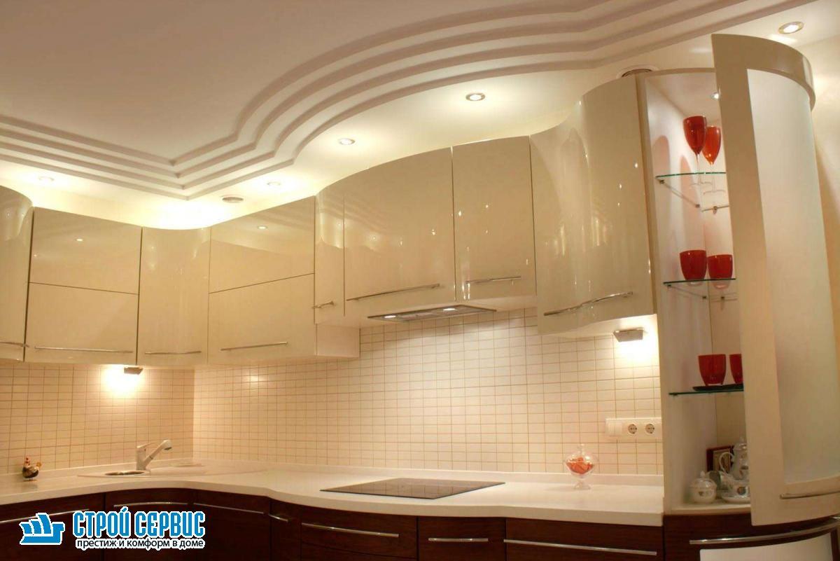 Ремонт потолка на кухне материалы
